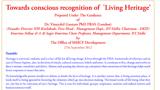Living Heritage Certificate